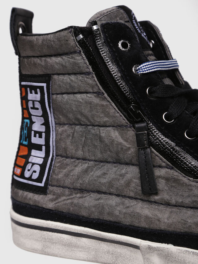 Diesel - D-VELOWS MID PATCH, Gris/Noir - Baskets - Image 4