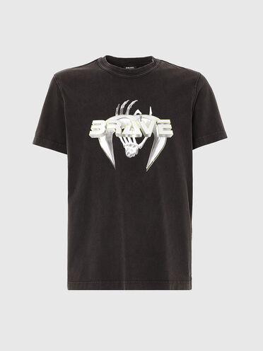 T-shirt avec imprimé «Brave»