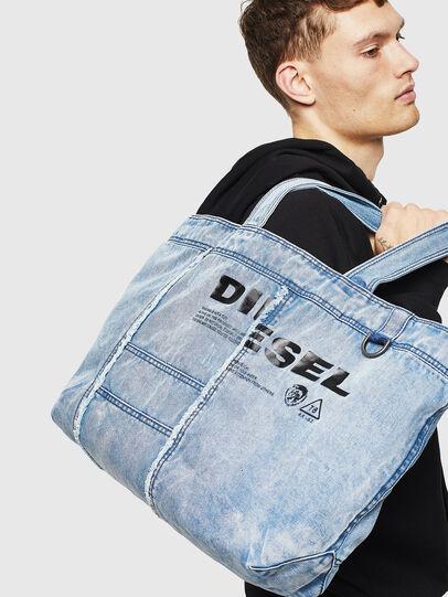 Diesel - D-THISBAG SHOPPER L, Bleu Clair - Cabas et Sacs d'Épaule - Image 6