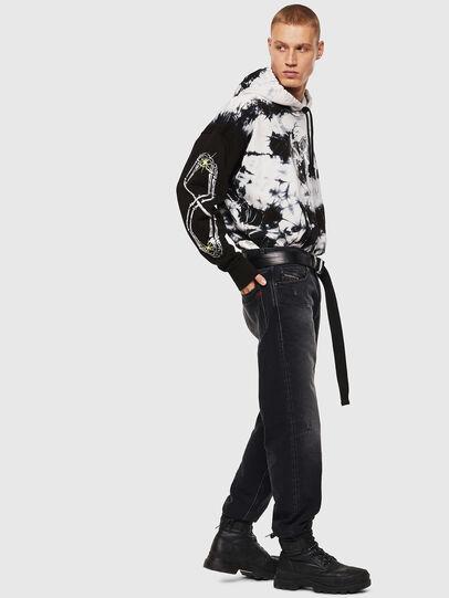 Diesel - S-ALBY-Y, Noir/Blanc - Pull Cotton - Image 5
