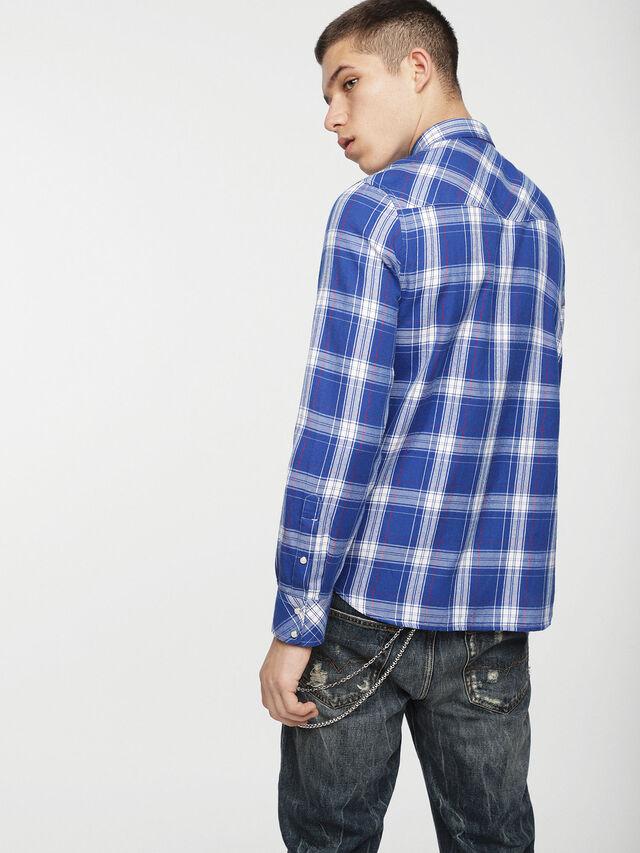 Diesel - S-EAST-LONG-C, Bleu/Blanc - Chemises - Image 2