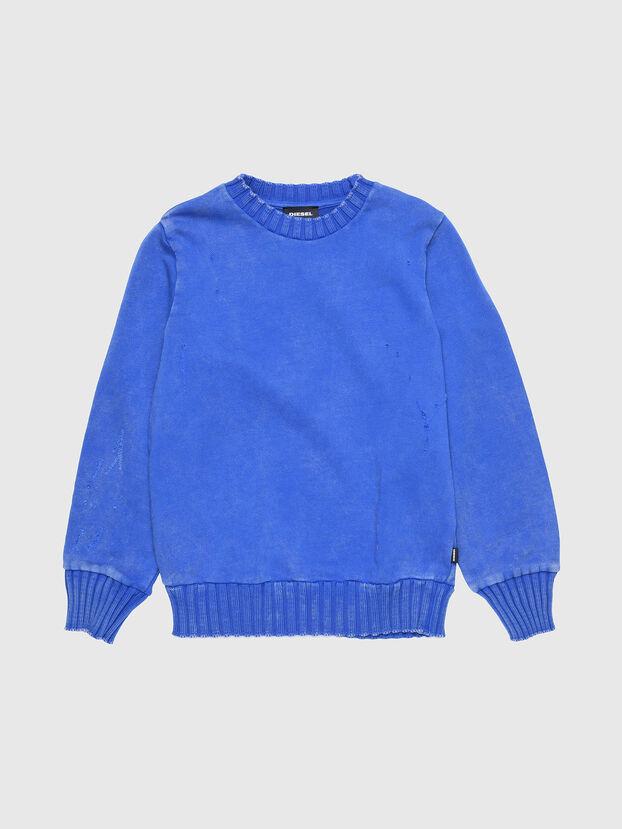 SBAYZJ, Bleu Brillant - Pull Cotton