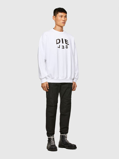 Diesel - S-MART-A90, Blanc - Pull Cotton - Image 4