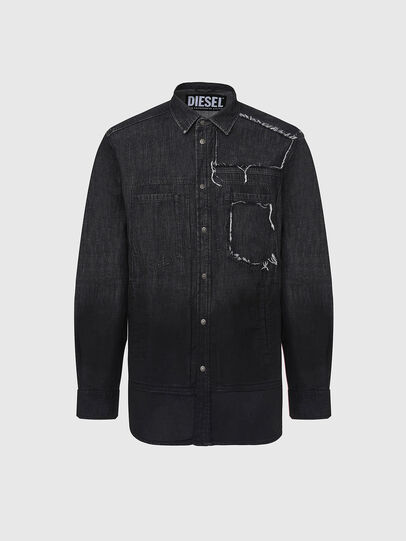 Diesel - D-NESKY, Noir - Chemises en Denim - Image 1