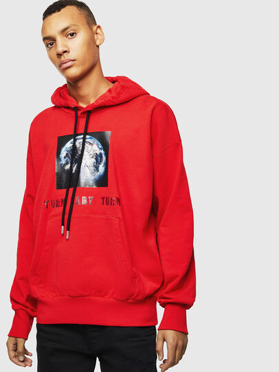 Diesel - S-ALBY-YA, Rouge - Pull Cotton - Image 1