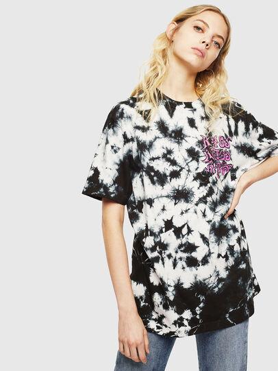 Diesel - T-JUST-J23, Noir/Blanc - T-Shirts - Image 2