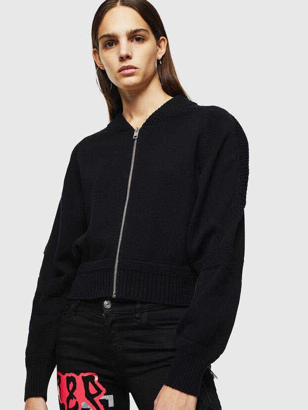 M-TESY, Noir - Pull Maille