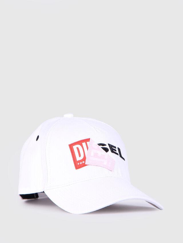 Diesel - CAKERYM, Blanc - Bérets, chapeaux et gants - Image 1