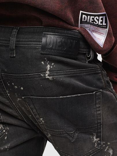 Diesel - Krooley JoggJeans 084AE, Noir/Gris foncé - Jeans - Image 5
