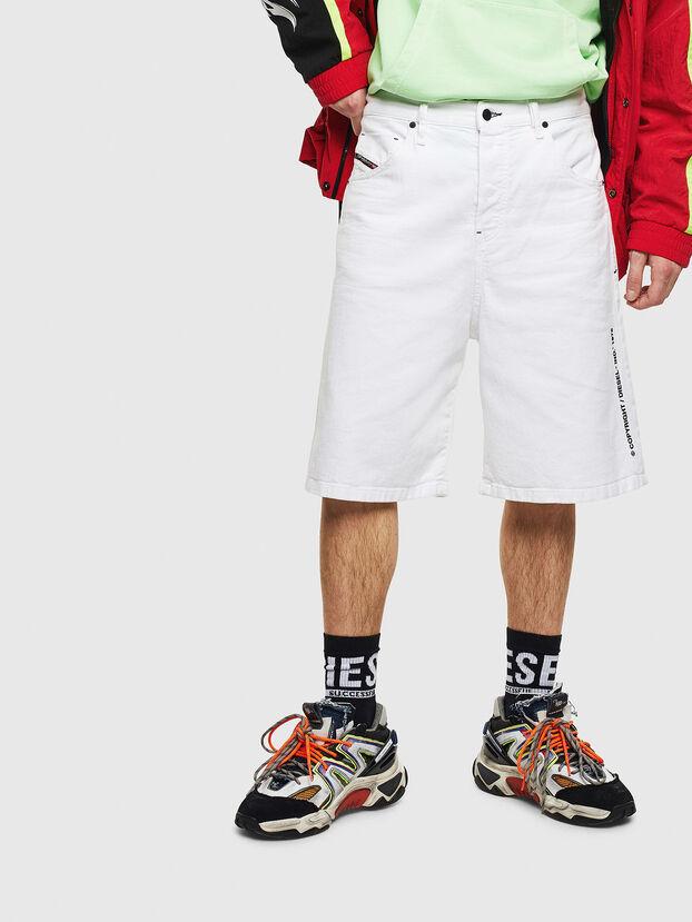 D-BRON, Blanc - Shorts