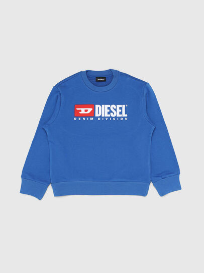 Diesel - SCREWDIVISION OVER, Bleu Céleste - Pull Cotton - Image 1