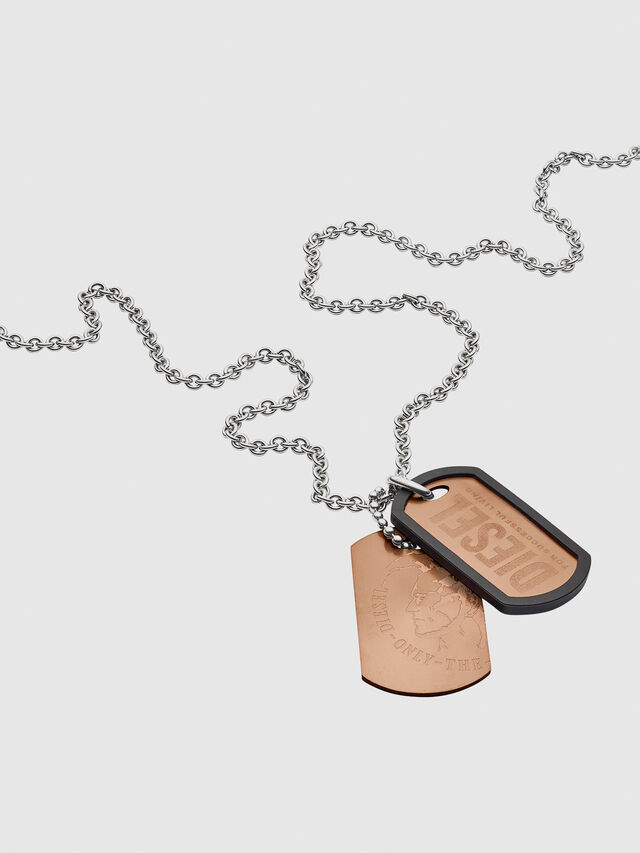 Diesel - NECKLACE DX1096, Bronze - Colliers - Image 2