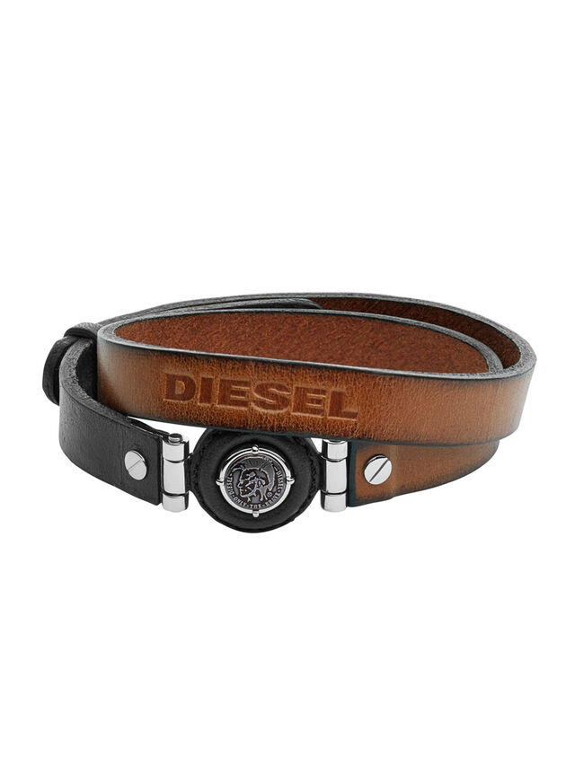 Diesel - BRACELET DX1021, Marron - Bracelets - Image 1