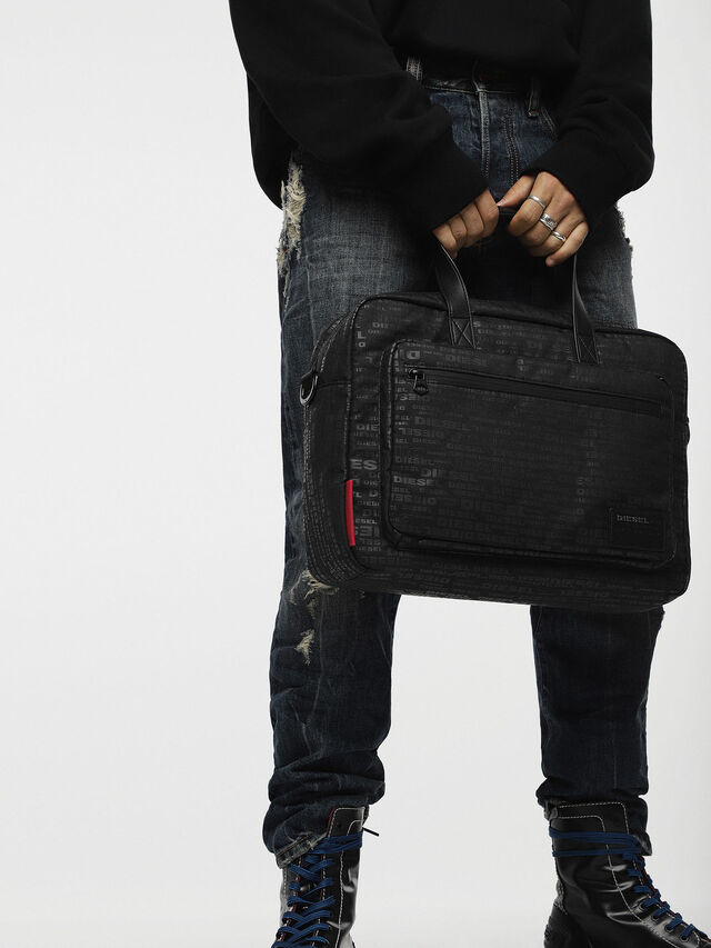 Diesel - F-DISCOVER BRIEFCASE, Noir - Attachés case - Image 4