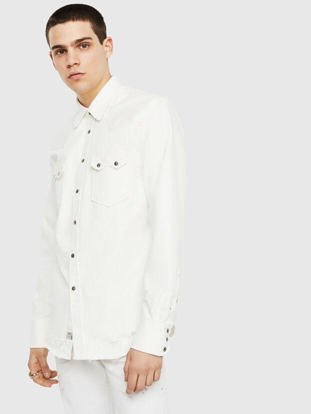 D-LEO, Blanc - Chemises en Denim