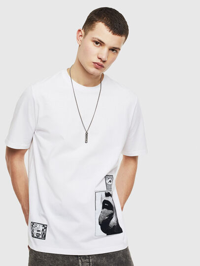 Diesel - T-JUST-T18, Blanc - T-Shirts - Image 1