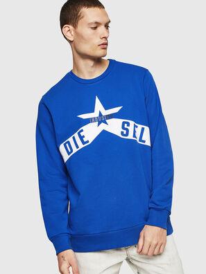 S-GIR-A2, Bleu Brillant - Pull Cotton