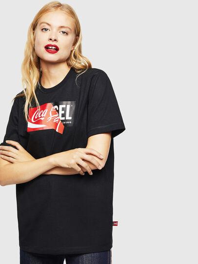 Diesel - CC-T-JUST-COLA, Noir - T-Shirts - Image 2