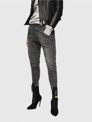 Fayza JoggJeans 8880U, Noir/Gris foncé - Jeans
