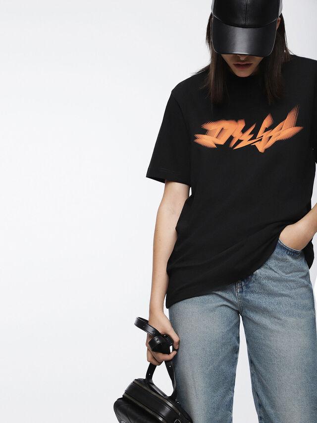 Diesel - T-JUST-XK-FL, Noir - T-Shirts - Image 1