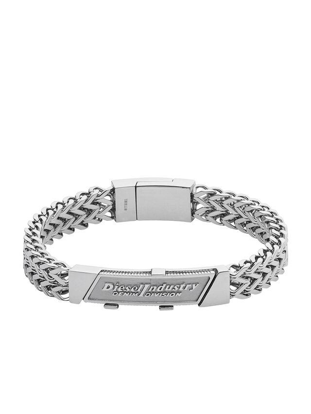 Diesel - BRACELET DX1033, Gris argenté - Bracelets - Image 1