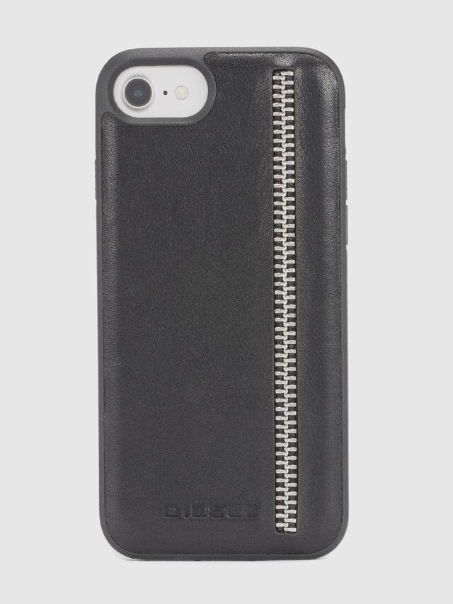 ZIP BLACK LEATHER IPHONE 8/7/6s/6 CASE, Noir
