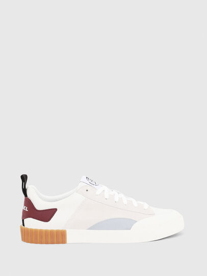 Diesel - S-BULLY LC, Blanc/Rouge - Baskets - Image 1
