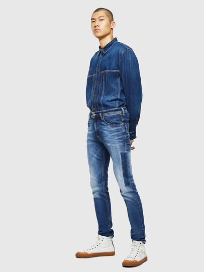Diesel - Thommer 0097W, Bleu Foncé - Jeans - Image 6