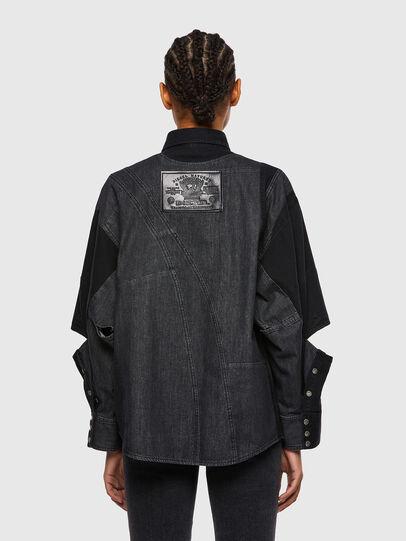 Diesel - DE-RINGLE, Noir - Chemises en Denim - Image 2