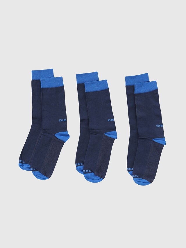 Diesel - SKM-RAY-THREEPACK, Bleu - Chaussettes - Image 1