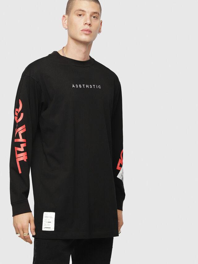 Diesel - T-LUCAS-LS-YB, Noir - T-Shirts - Image 1