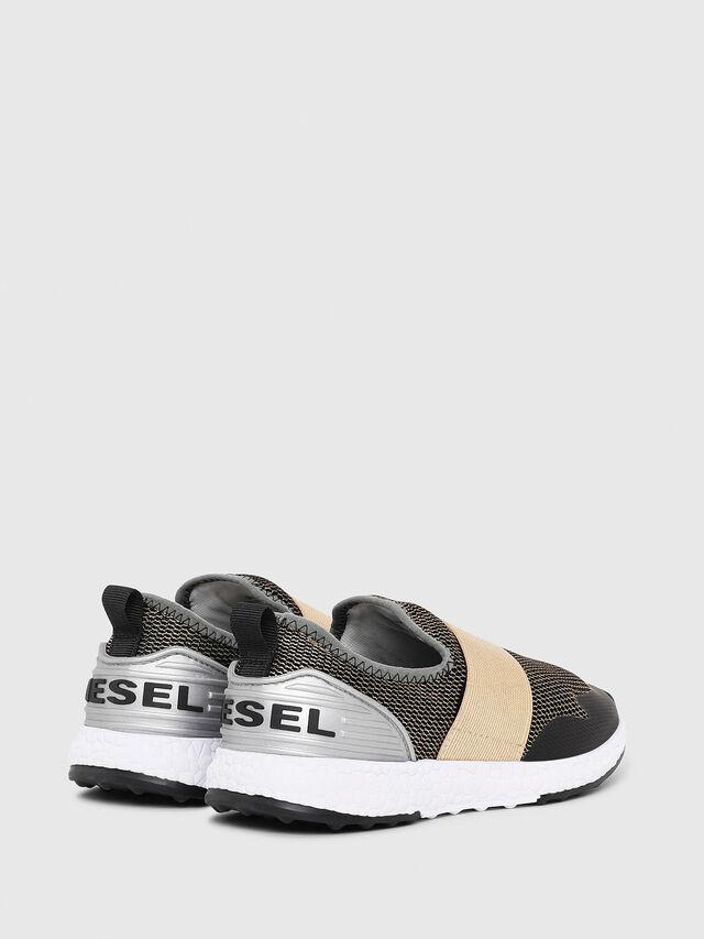 Diesel - SN SLIP ON 16 ELASTI, Noir/Doré - Footwear - Image 3