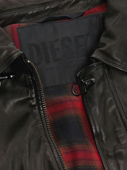 Diesel - L-LUC, Noir - Vestes de cuir - Image 5