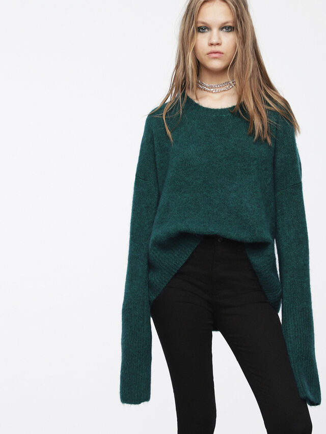 Diesel - M-ALPY, Vert Bouteille - Pull Maille - Image 1