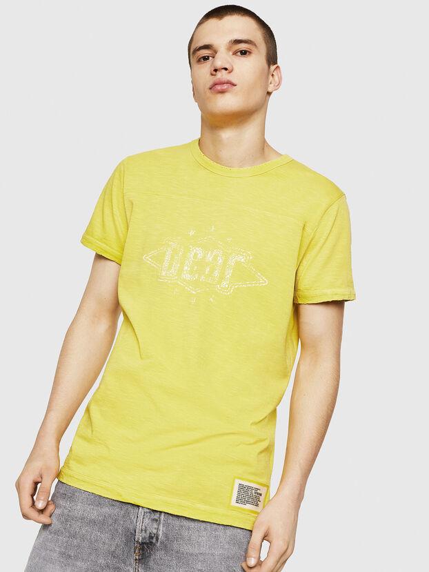 T-DIEGO-CUT-A, Jaune - T-Shirts