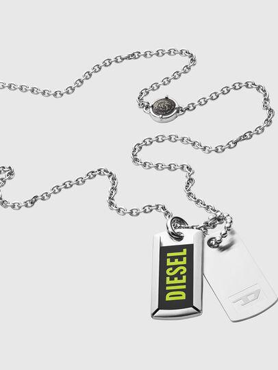 Diesel - DX1245, Gris argenté - Colliers - Image 2
