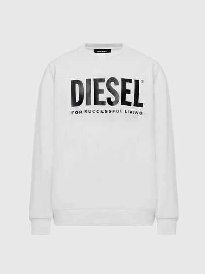 Diesel - S-GIR-DIVISION-LOGO, Blanc - Pull Cotton - Image 1
