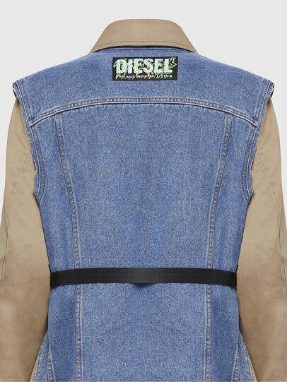Diesel - W-CHARIE, Beige/Bleu - Vestes d'hiver - Image 5