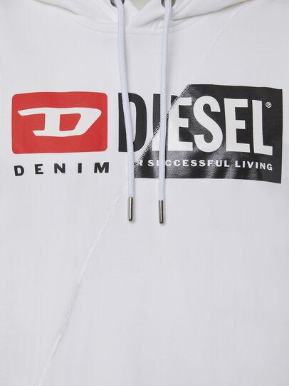 Diesel - F-ANG-HOOD-CUTY, Blanc - Pull Cotton - Image 3