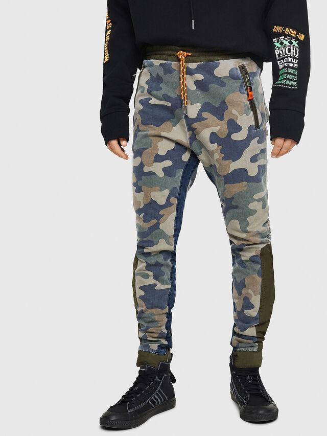Diesel - D-Eeley JoggJeans 0GAUU, Vert Camouflage - Jeans - Image 1