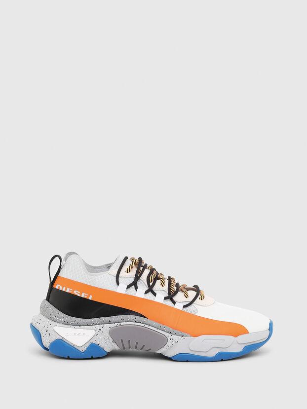 S-KIPPER BAND, Blanc/Orange - Baskets