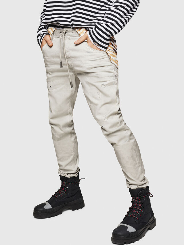 Diesel - Krooley JoggJeans 069GT, Gris Clair - Jeans - Image 1