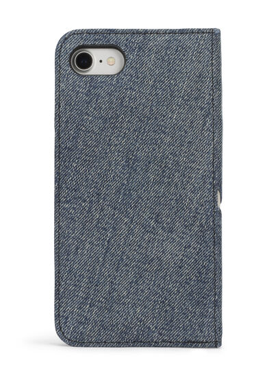 Diesel - DENIM IPHONE 8 PLUS/7 PLUS FOLIO, Jean Bleu - Coques à rabat - Image 5