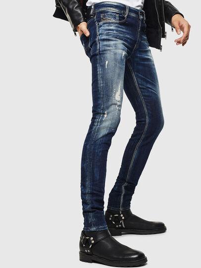Diesel - Sleenker 0097L, Bleu Foncé - Jeans - Image 4
