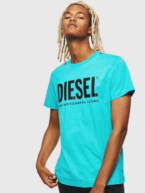 T-DIEGO-LOGO, Azur - T-Shirts