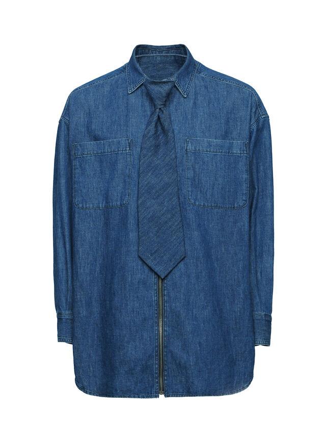 Diesel - SOTS01, Bleu Foncé - Chemises - Image 1