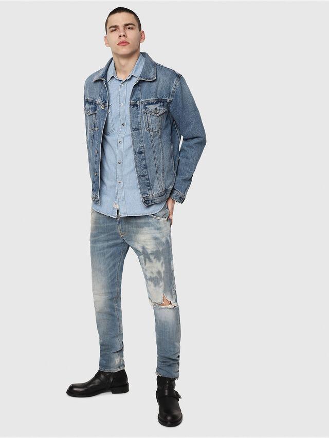 Diesel - Krooley JoggJeans 087AE, Bleu Clair - Jeans - Image 4