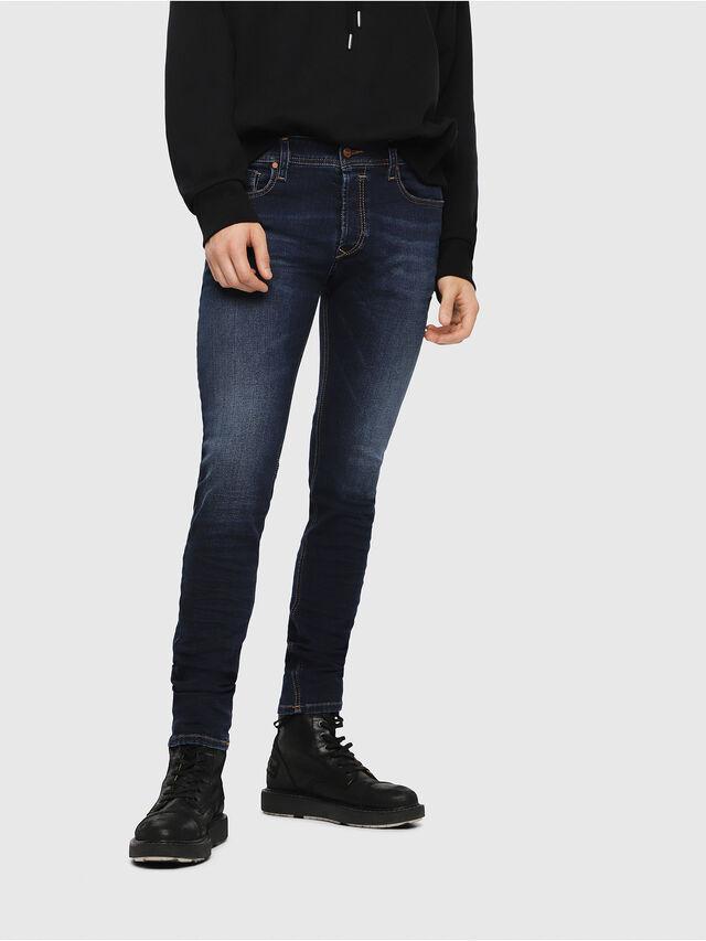 Diesel - Sleenker 084RI, Bleu Foncé - Jeans - Image 1