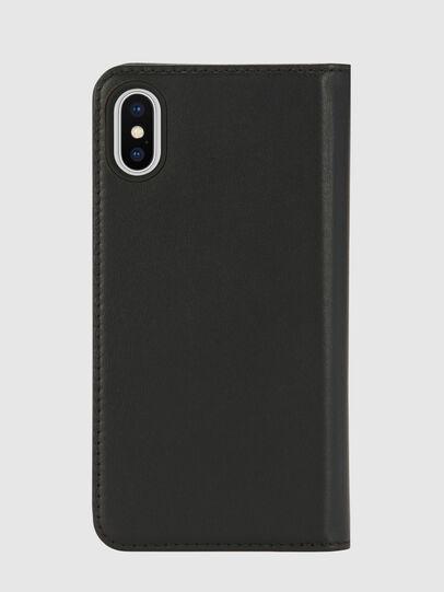 Diesel - SLIM LEATHER FOLIO IPHONE X, Noir - Coques à rabat - Image 2