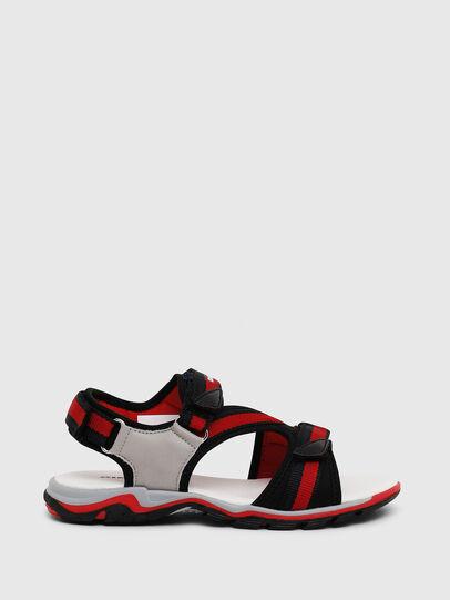 Diesel - SA 07 STRIPE YO, Gris/Rouge - Footwear - Image 1